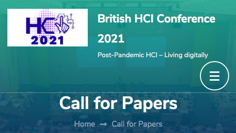 British HCI 2021 call for papers